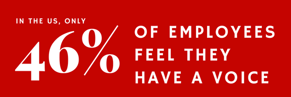 employees dont feel they have a voice